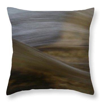 Close-up Of Ledge Falls, Baxter State Throw Pillow