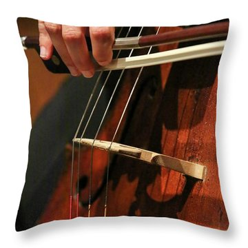 Cellist Throw Pillows