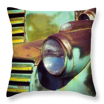 Close View Of A Fading Beauty Throw Pillow