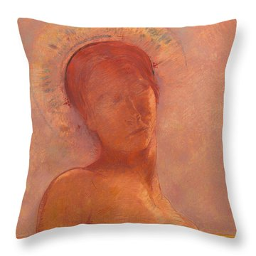 Closed Eyes Throw Pillow