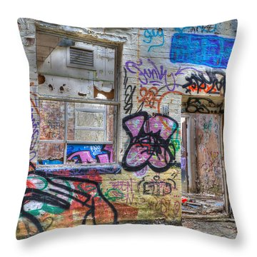 Closed For Business Throw Pillow by David Birchall