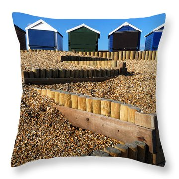 Closed For The Winter Throw Pillow by Wendy Wilton