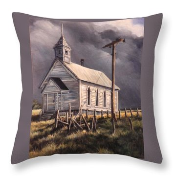 Closed On Sundays Throw Pillow by Donna Tucker