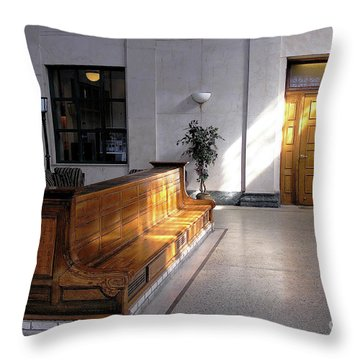Closed Railroad Station - Johnstown Pa Throw Pillow