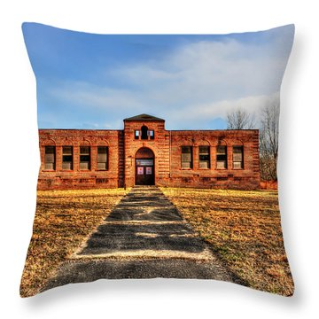 Closed School In Small Town Wv Throw Pillow by Dan Friend