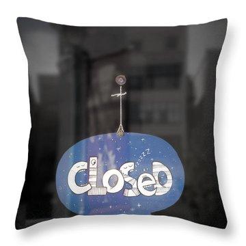 Closed Sleep Tight Throw Pillow by Scott Norris