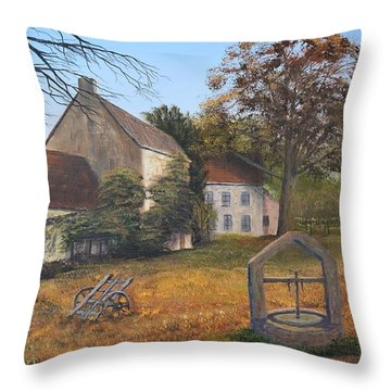 Closed Up Throw Pillow