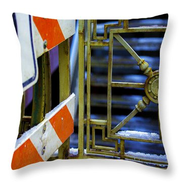 Closed Walkway Throw Pillow