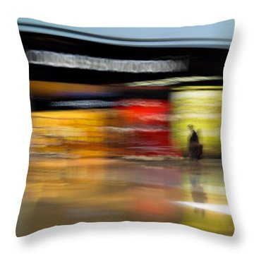 Throw Pillow featuring the photograph Closing In by Alex Lapidus