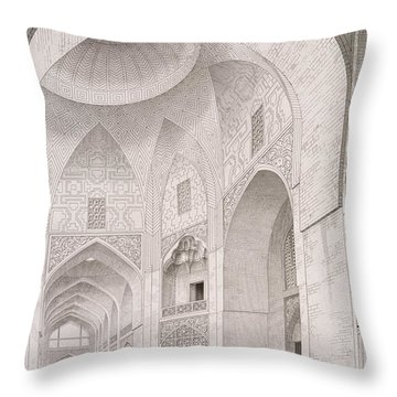 Cloth Market In Isfahan Throw Pillow by Pascal Xavier Coste