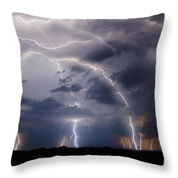 Clothed In Power Throw Pillow