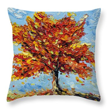 Clothed With Joy Throw Pillow by Meaghan Troup