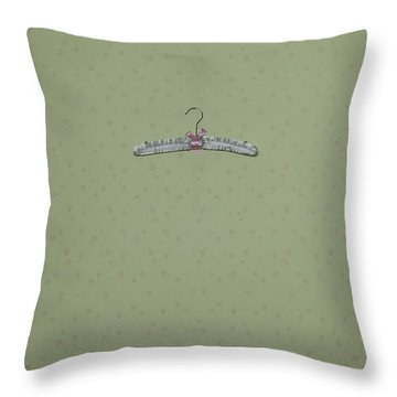 Clothes Hanger Throw Pillow by Joana Kruse