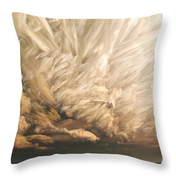 Cloud Chaos Cropped Throw Pillow