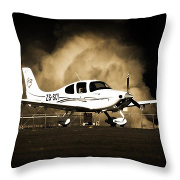 Cloud Cirrus Throw Pillow