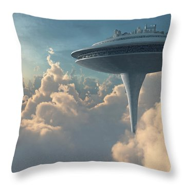Cloud City Throw Pillow