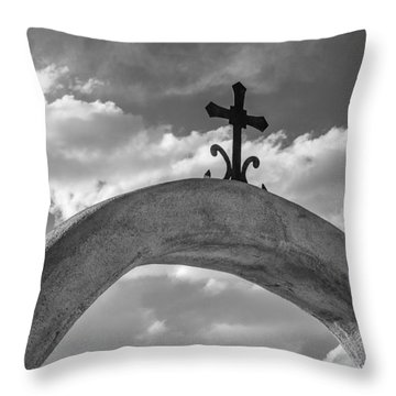 Cloud Cross Throw Pillow