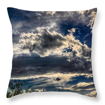 Throw Pillow featuring the photograph Cloud Drama by Mark Myhaver