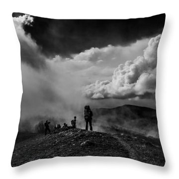 Cloud Factory Bw Throw Pillow