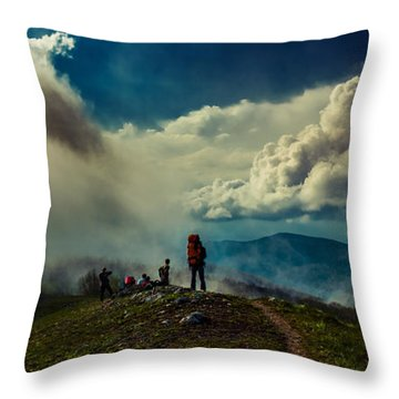 Cloud Factory Throw Pillow