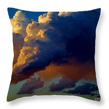 Cloud Family Throw Pillow