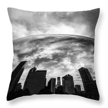 Cloud Gate Chicago Bean Throw Pillow