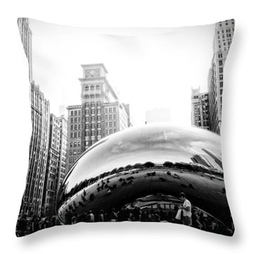 Cloud Gate Dark And Gritty Throw Pillow