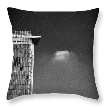 Throw Pillow featuring the photograph Cloud Lamp Building by Silvia Ganora