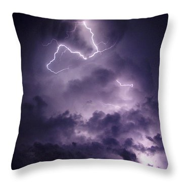 Cloud Lightning Throw Pillow by James Peterson