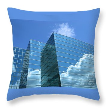 Throw Pillow featuring the photograph Cloud Mirror by Ann Horn