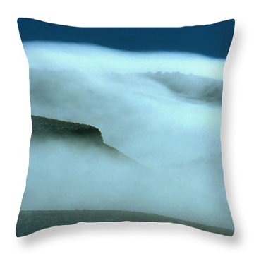 Cloud Mountain Throw Pillow by Ed  Riche
