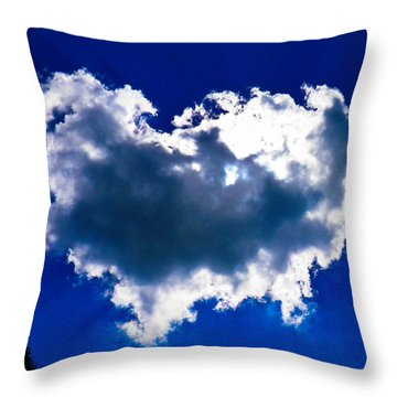 Cloud Throw Pillow by Nick Kirby