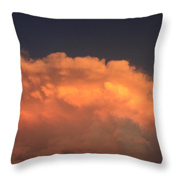 Throw Pillow featuring the photograph Cloud On Fire by Jerry Bunger