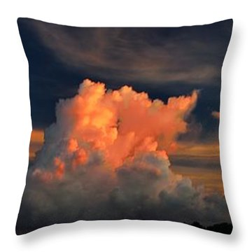 Throw Pillow featuring the photograph Cloud Panorama by Richard Zentner