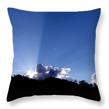 Throw Pillow featuring the photograph Cloud Rays by Craig T Burgwardt