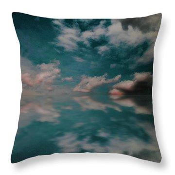 Cloud Reflections Throw Pillow by John Stuart Webbstock