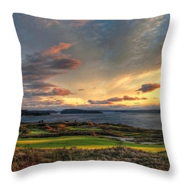 Cloud Serenity - Chambers Bay Golf Course Throw Pillow