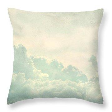 Cloud Series 5 Of 6 Throw Pillow by Brett Pfister