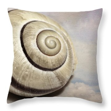 Cloud Shells Throw Pillow