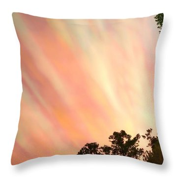 Throw Pillow featuring the photograph Cloud Streams by Charlotte Schafer