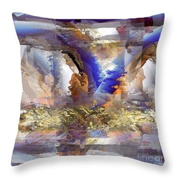 Cloudburst Throw Pillow by Ursula Freer