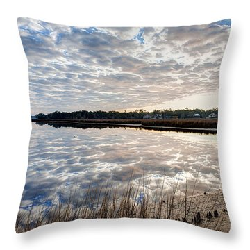 Clouded Reflection Throw Pillow by Joan McCool