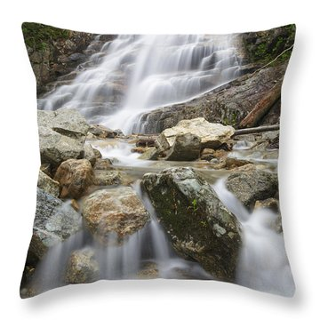 Cloudland Falls - Franconia Notch State Park New Hampshire Usa Throw Pillow