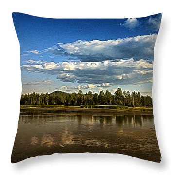 Throw Pillow featuring the photograph Clouds  ... by Chuck Caramella