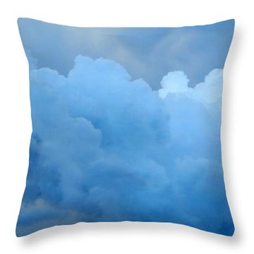 Clouds 2 Throw Pillow by Leanne Seymour