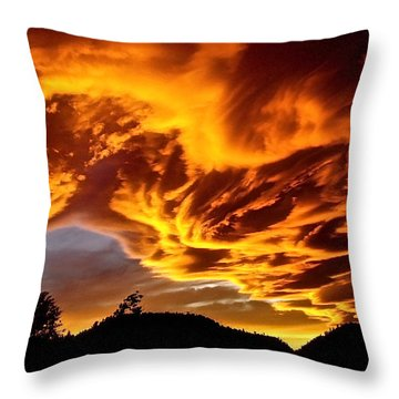 Clouds 2 Throw Pillow by Pamela Cooper