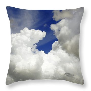Clouds Above Me Throw Pillow
