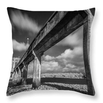 Clouds Above The Bridge Throw Pillow