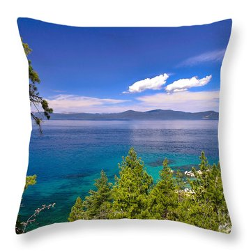 Clouds And Silence - Lake Tahoe Throw Pillow