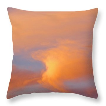 Clouds At Sunrise Throw Pillow by Dan Sherwood